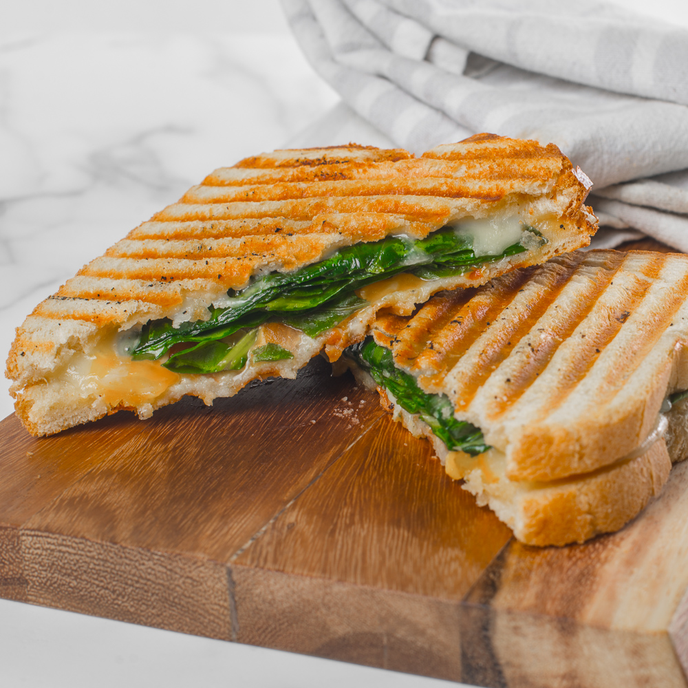 Spinach and 3 Cheese Panini