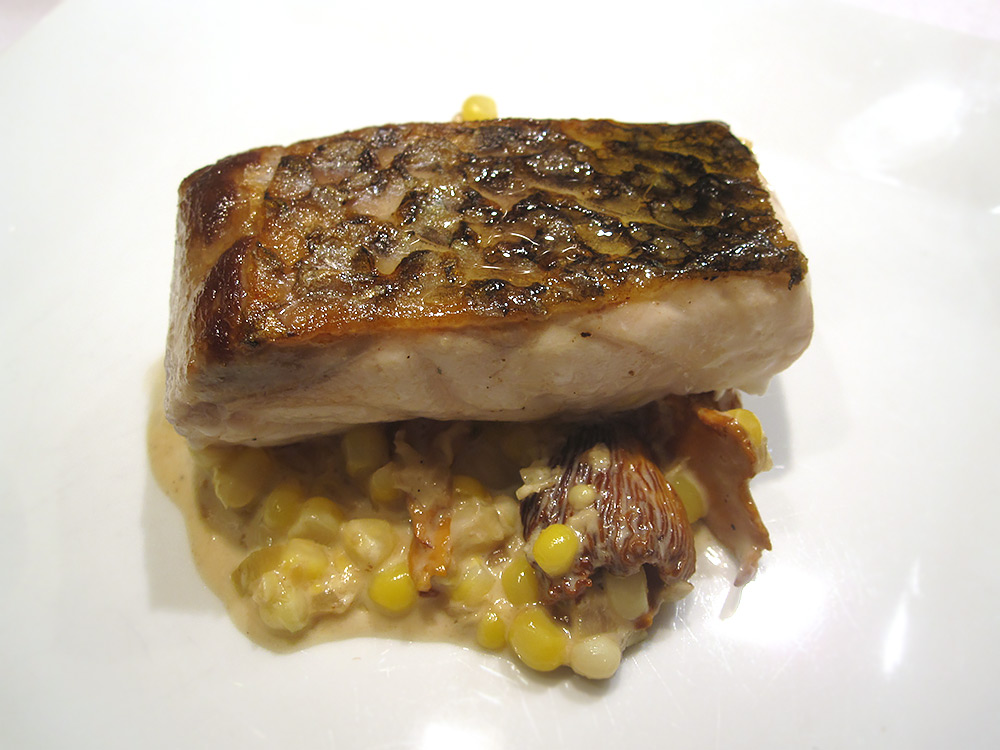 Wild Striped Bass, Chanterelles & Corn.jpg