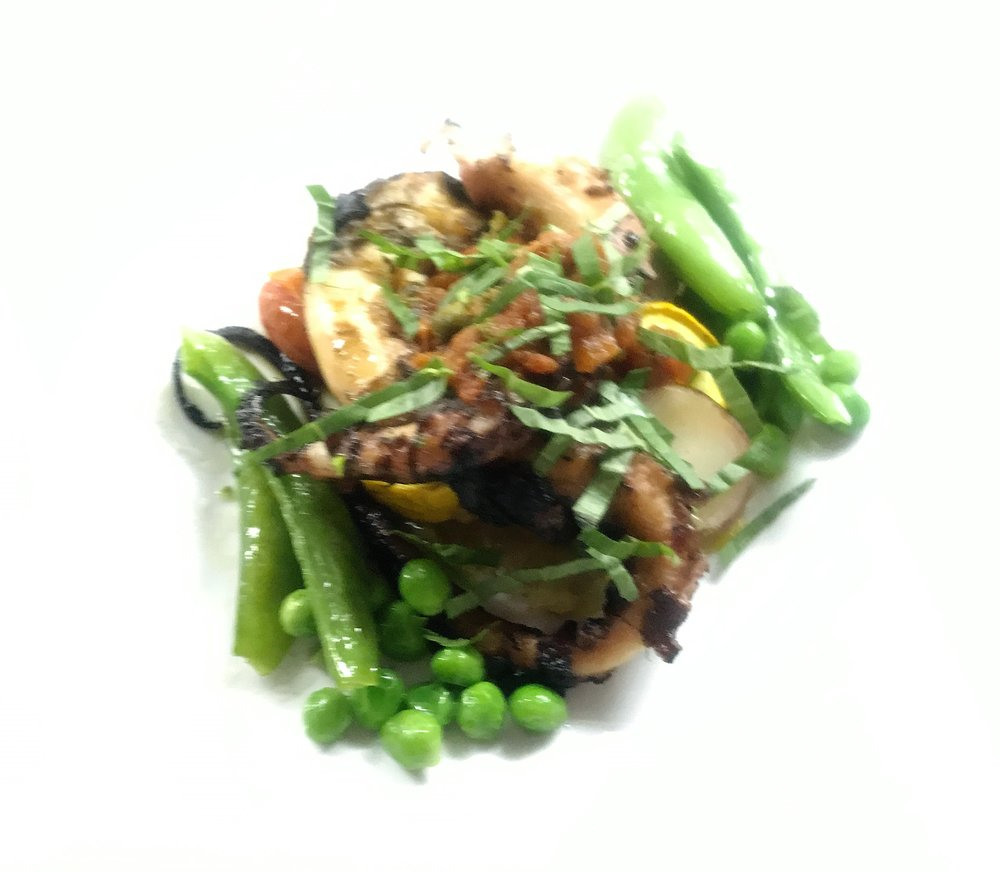 Grilled Octopus with Sugar Snap Peas.JPG
