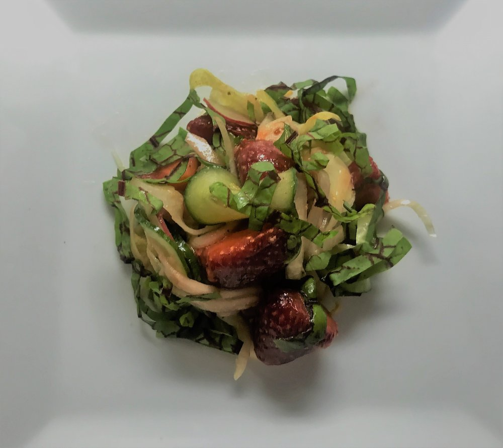 Kohlrabi, Strawberry Salad.JPG