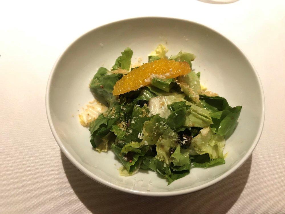 escarole salad, cara cara oranges, tapenade viniagrette.JPG