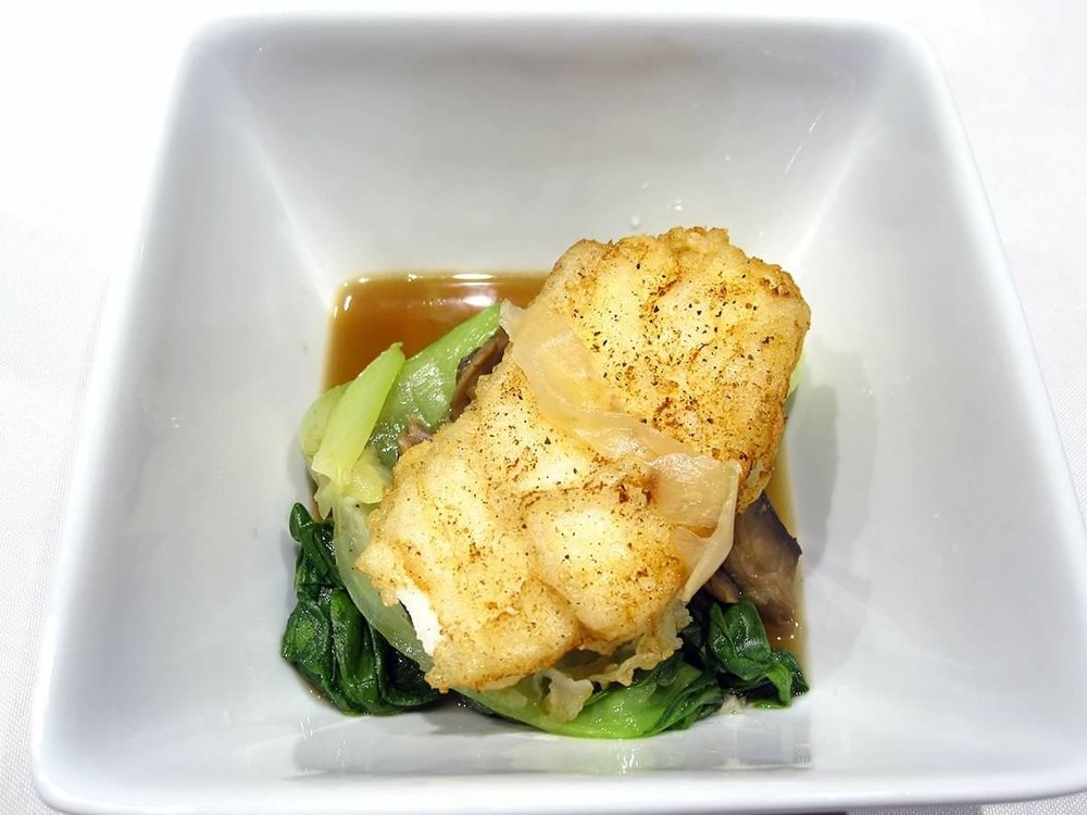 Tapioca Crusted Cod with Mushrooms and Bok choy.jpg