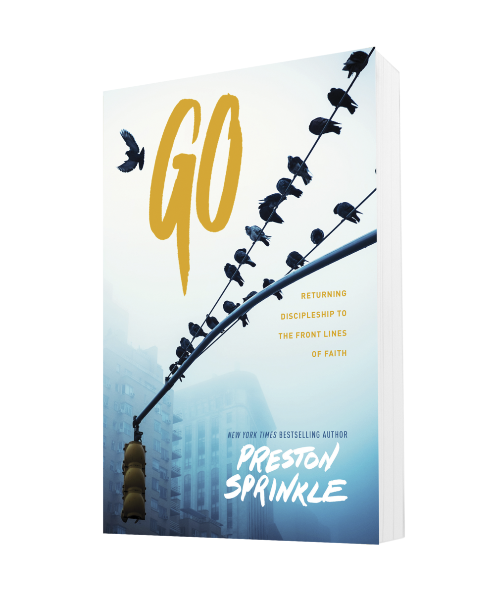Go by Preston Sprinkle - Drawing on a recent Barna Group study of the state of discipleship in the United States commissioned by The Navigators, bestselling author Preston Sprinkle provides a holistic, biblical response for discipleship, providing accessible tools for all those who are engaged in making Christ-followers in the 21st century.In an extremely practical fashion, Go helps us to discern, from the Scriptures and from exemplary disciple-making ministries, what discipleship is and is not, what it has become and what it can still be.
