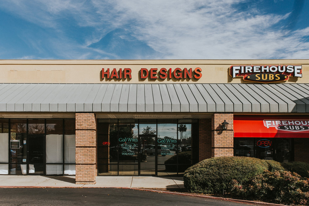 Our Location - This is our gorgeous storefront located near Chick-fil-a, Starbucks, and Walmart Marketplace. Come visit us for a look you will love.