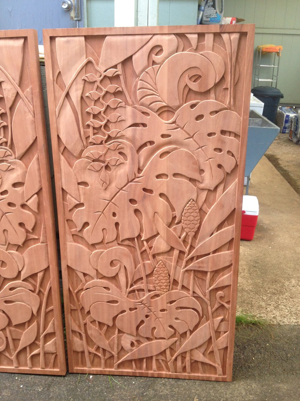 carved wood doors Lanikai home detail.JPG