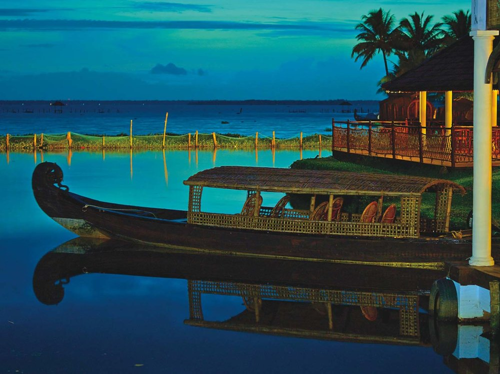 The backwaters of Kerala, you might run into world royalty here.