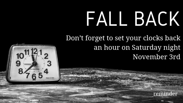 Time to get an extra hour of sleep!