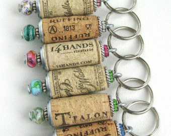 Not in the mood to craft? Purchase wine cork key chains  here.