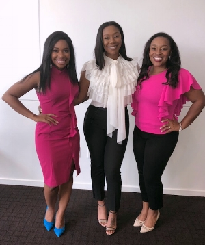 Jessica (@JessicaLundyTV), Me, and Lyndosha (@Lyndosha_e), Matchless Retreat 2018