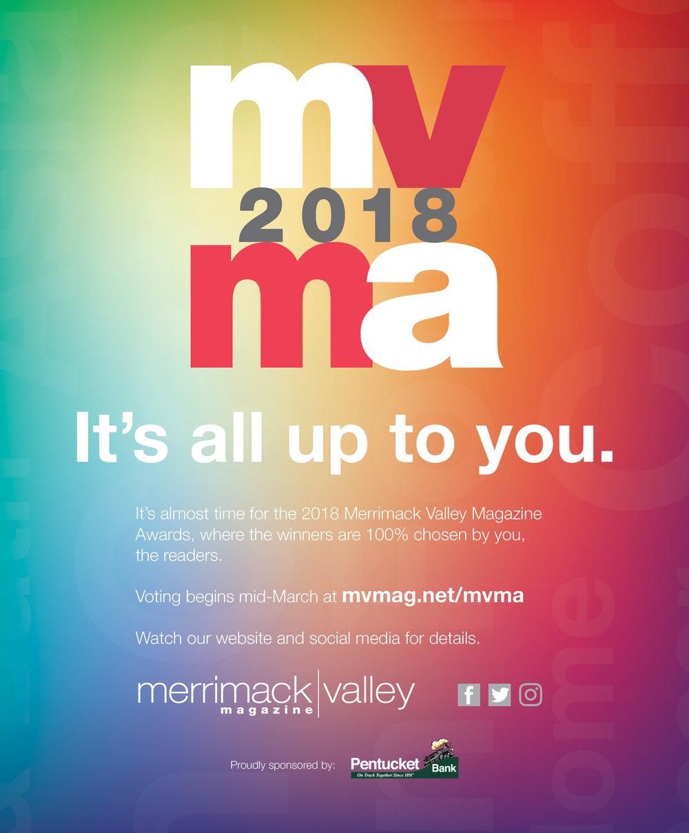 Print Ad Design   MVMA House Ad, Merrimack Valley Magazine