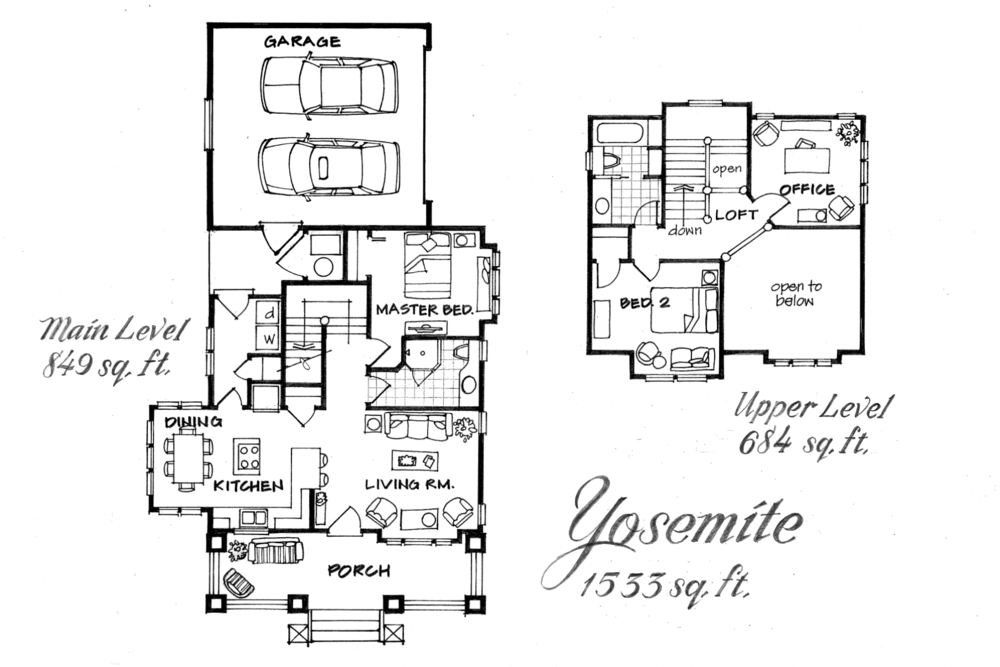 Yosemite - 1533 sq. ft. - 3 bed/2 bath *optional den/office