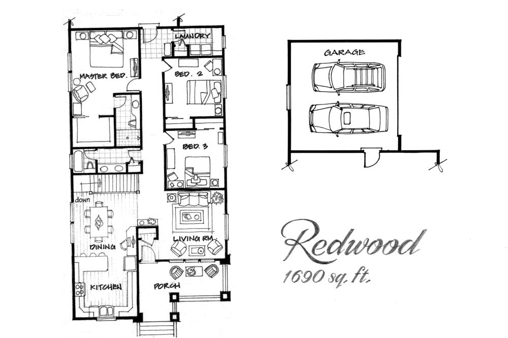 Redwood 3 Bed / 2 Bath