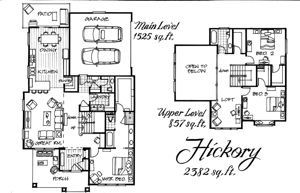Hickory 3 Bed 2.5 Bath