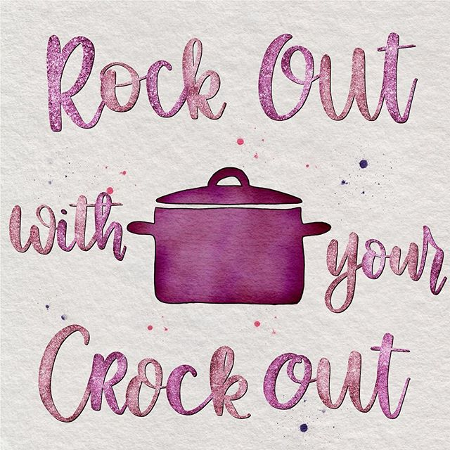😂 I had a very short window of time tonight to pull out the iPad and letter. I wasn't feeling very inspired so this is what came out. 🤷‍♀️ #rockoutwithyourcrockout #atleastithasglitter #digitalwatercolor #digitallettering