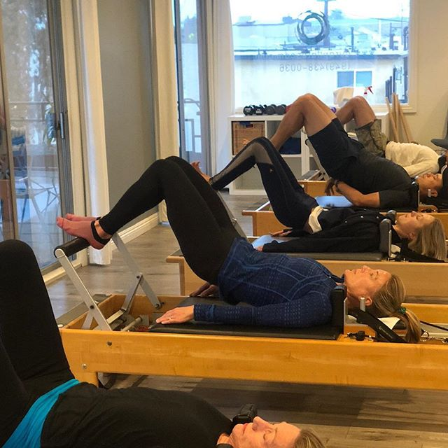 Happy Monday! Enjoy your week and  make sure to get to your Pilates in! Buy one get one for first timers! #pilates #pilatesreformer #aurapilates #aura #cdm #newportbeach #hamstrings #abs
