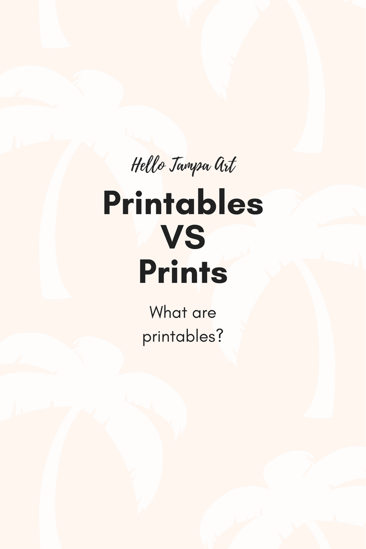 What is a printable? - I discovered the world of printables on Etsy and I'm so intrigued.  I found a lot of benefits to buying printables instead of buying prints or art from a Marshall's or HomeGoods type store!
