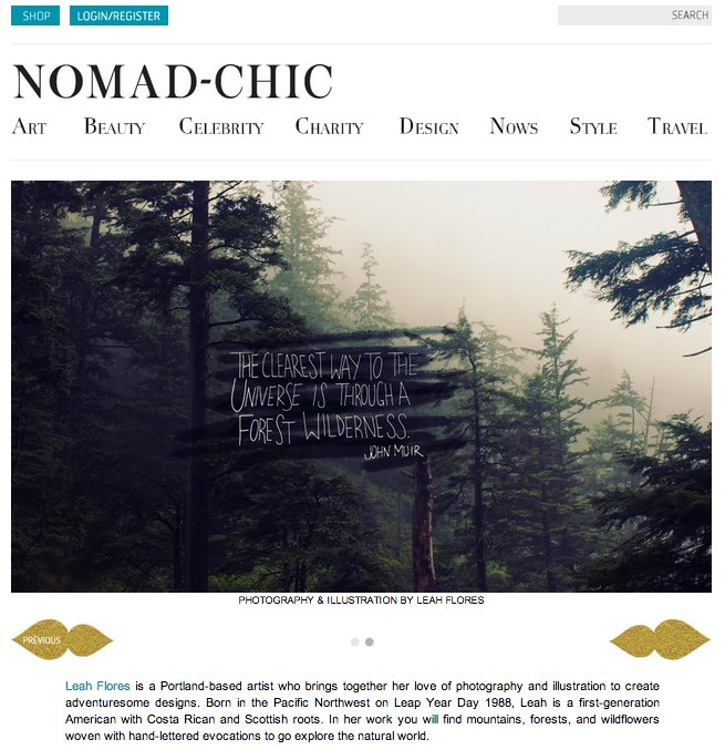Leah Flores Featured in Nomad-Chic