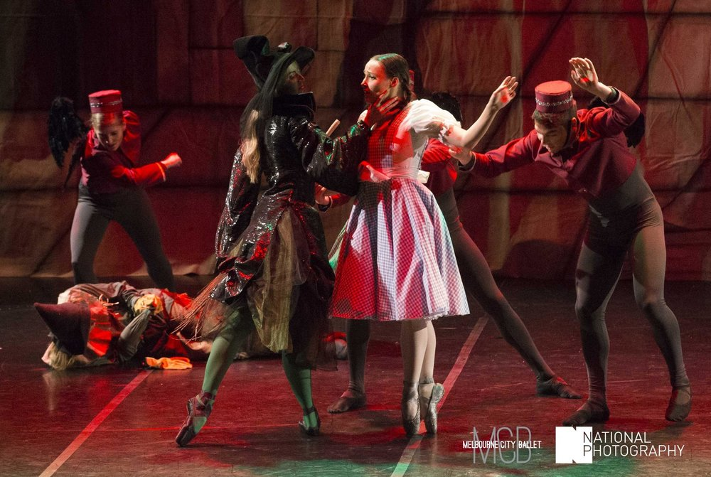 Emma in her role as the Wicked Witch in Melbourne City Ballet's  The Wonderful Wizard of Oz . Photo: National Photography