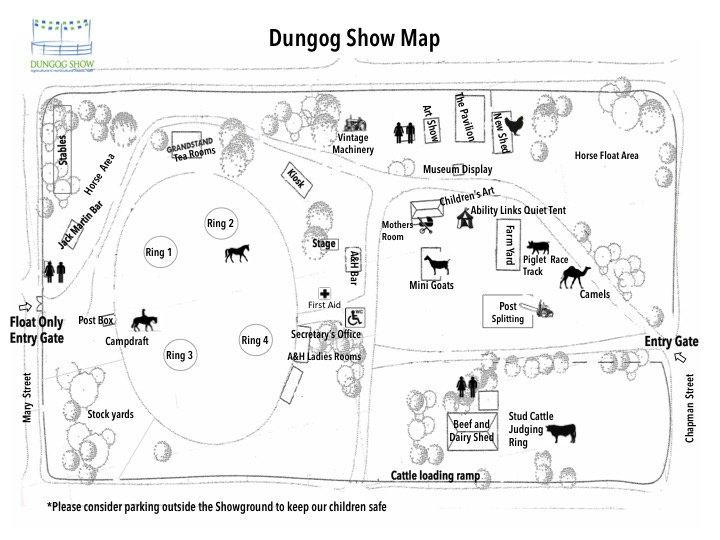What's Where at the Dungog Show