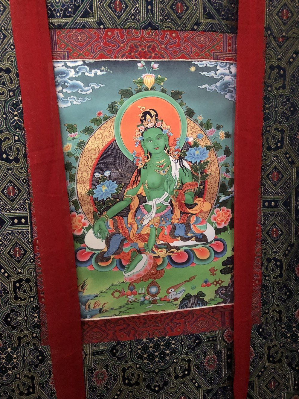 Green thangka