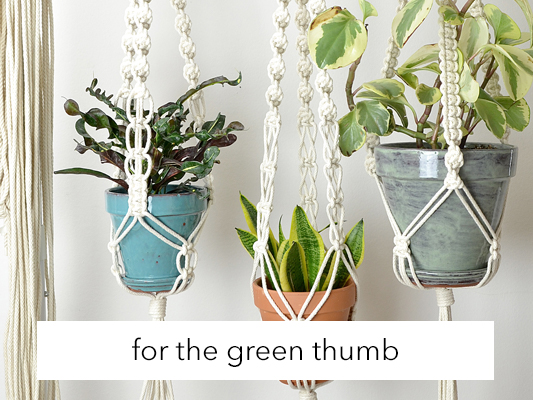 Uniquely designed: Macrame plant hanger for the urban gardener in your life