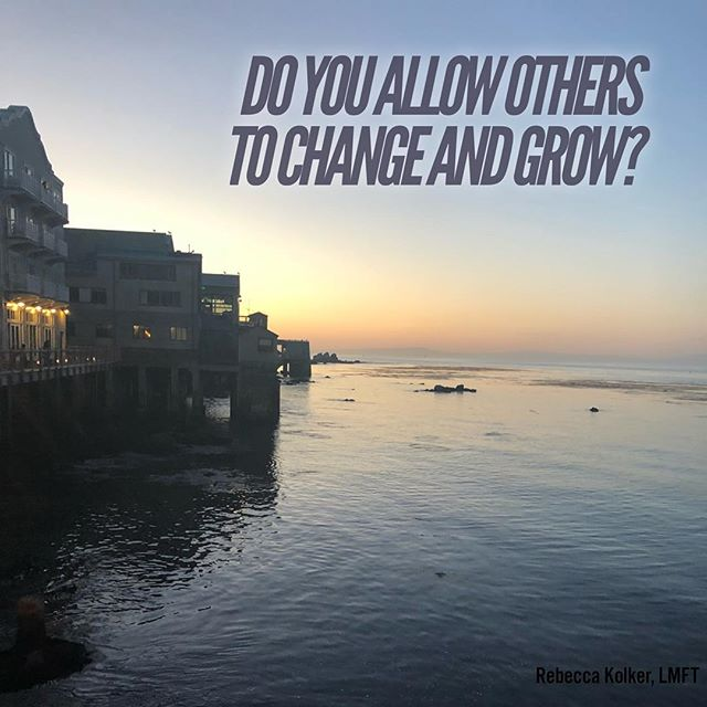 I took a break from posting to really focus on my private practice but today I was hit by a question and wanted to share. 🤔 Do you allow others to #change and #grow ?  So often we envision people the way they were when we used to know them or the way they were when they were younger. We don't always allow for people to make progress, to become different. Ask yourself today, do you see your friends, family and even people you dislike as stuck, as concrete, never changing? Or do you allow yourself to acknowledge we all change and become different versions of ourselves? #thoughts #questionoftheday #growth