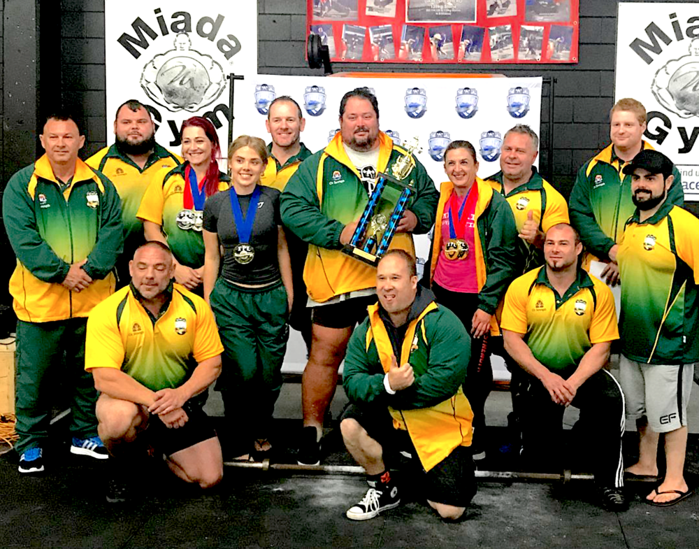 The team representing APL who travelled to New Zealand to compete in the Anzac Challenge.