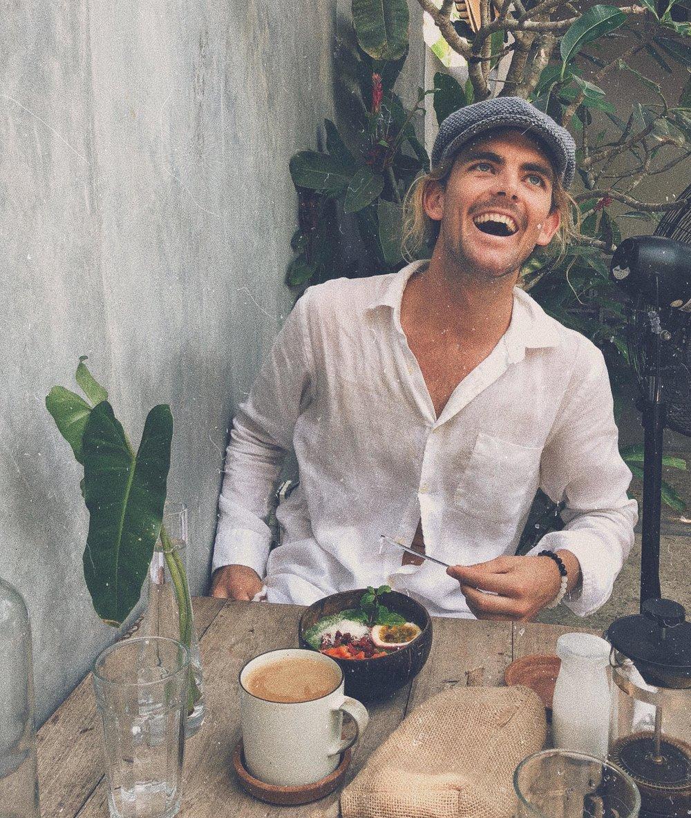 Enjoying breakfast at Ceylon Sliders, a little too much? Haha