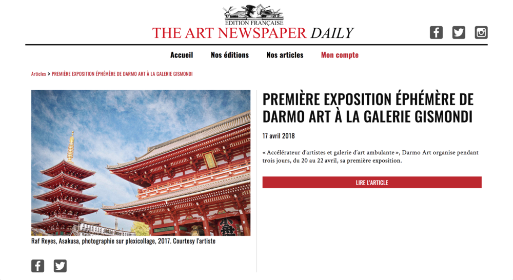 ART NEWSPAPER DAILY (17 April 2018)