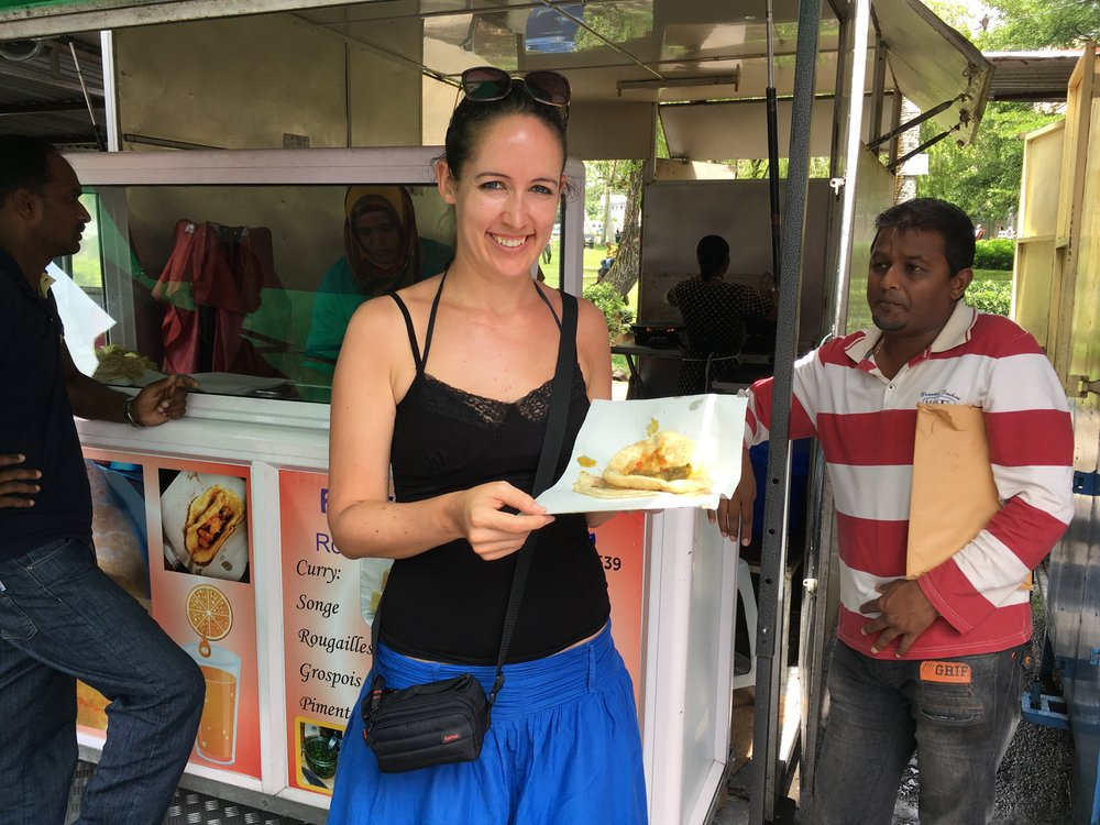 Indiai ebéd Mauritiuson (a fotót Edit küldte el)