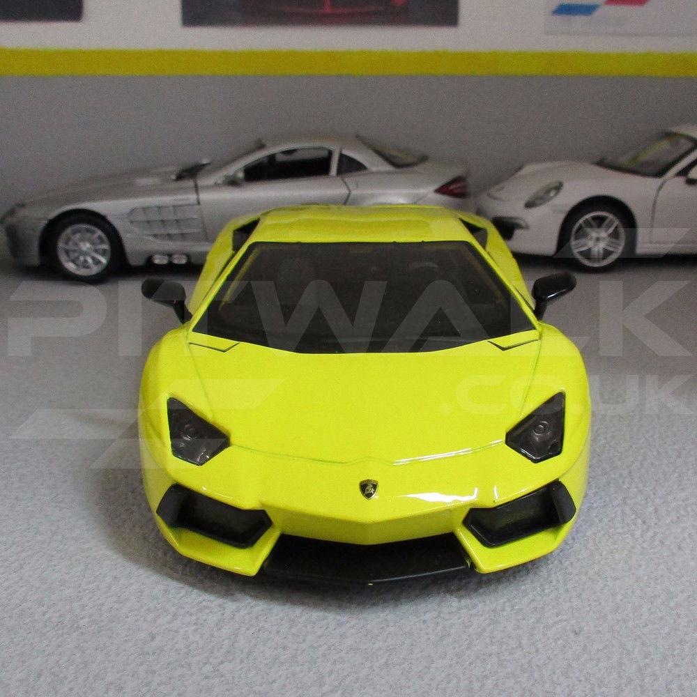 Lamborghini Yellow Aventador Lp700 4 Exotics Series Die Cast Model