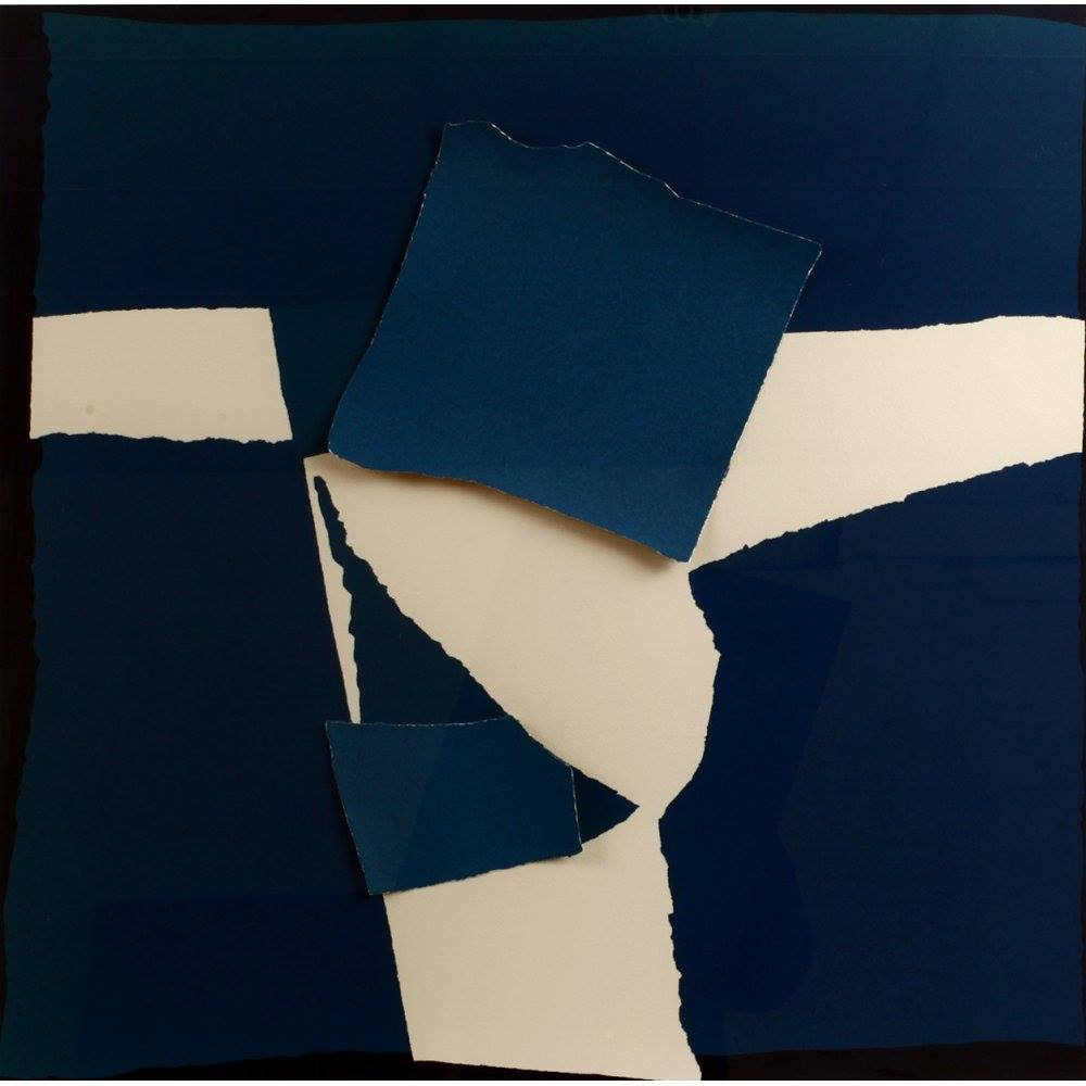 Sandra Blow Blue Square Collage
