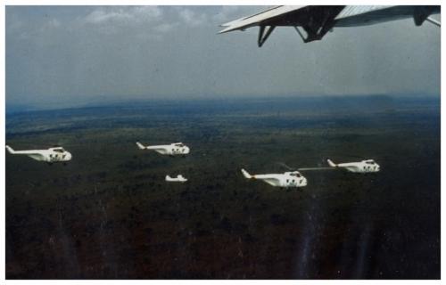 Styrkan med fyra helikopter 19 och två Otter-plan utgår.