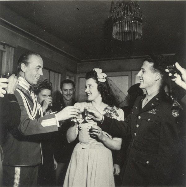 Folke Bernadotte, Hedvig Johnson och Herman Allen. Foto: Privat ägo.