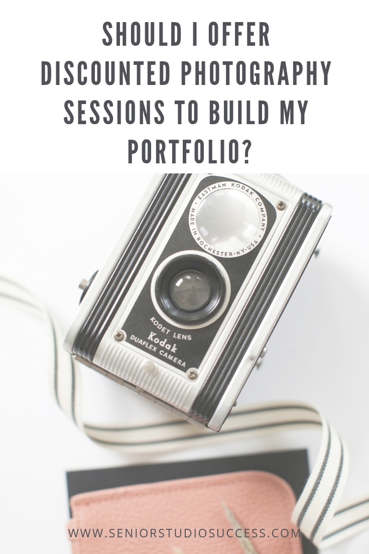 Discounting portfolio building sessions: the pros and cons