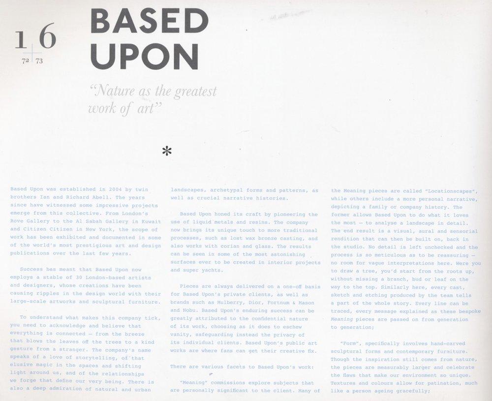 Based Upon_London_Art Design_Press_Quintessentials