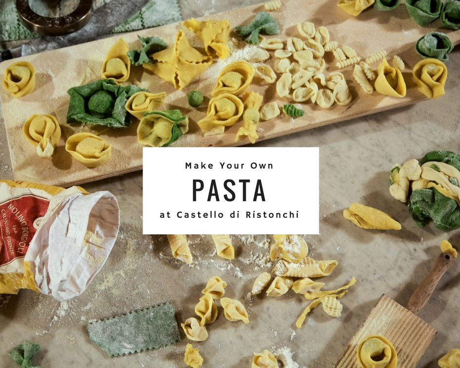 Pasta Class   There's no better setting to learn how to make authentic, fresh Italian pasta, with or without eggs, in different shapes and sizes.  Our pasta-making class is a fun, creative and delicious way to become an Italian pasta expert! Come learn all there is to know about making fresh pasta.You will knead, cut, roll and fill ravioli, tagliatelle, tagliolini or other varieties. This class provides a hands-on pasta-making experience with our professional chef. Preparation of 2 different pasta dishes, an appetizer and dessert. A delicious meal of prepared dishes together with wine and water. Tasting of local wine and food products. Class duration: 3 hours plus time for lunch - Approx.4 hours  Pricing: Groups of 3-5: 100€ per person Groups of 6-10: 85€ per person Half price for children ages 3-12.  This class is highly recommended for families with children.
