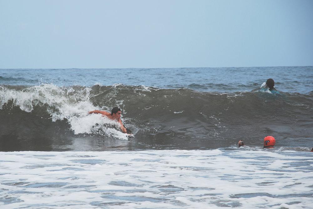 Des petites vagues, mais un grand plaisir pendant l'open