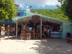 Travel writer Lori Barbely Soggy Dollar BVI