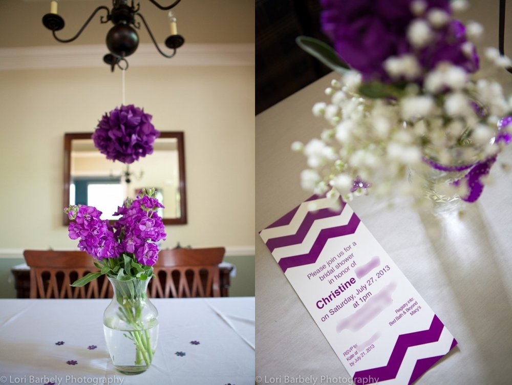 purple bridal shower