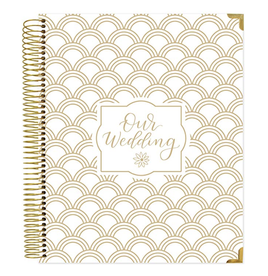 Wedding Planner - Apps and online notes are great, but sometimes you just want to write stuff down and keep it in one place. Enter the wedding planner. This spiral bound hardcover paper planner has spots for guest and vendor planning as well as monthly planning and areas to jot down your vision for your big day.