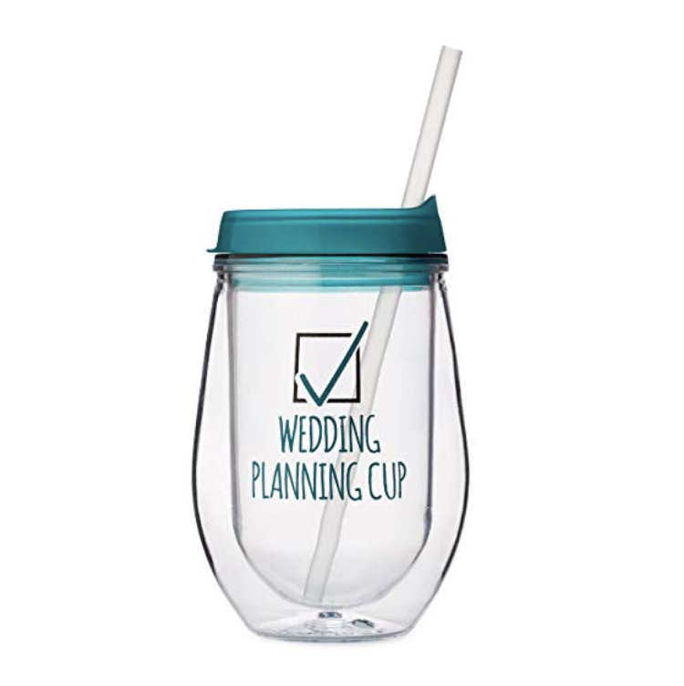 Wedding Planning Cup - Weddings and wine go together like you and your partner! So sip chardonYAY from the straw of this wedding planning cup while you check things off your to do list as the big day approaches.