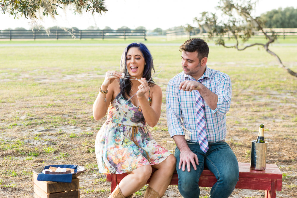 Villages Polo Club Engagement Photos