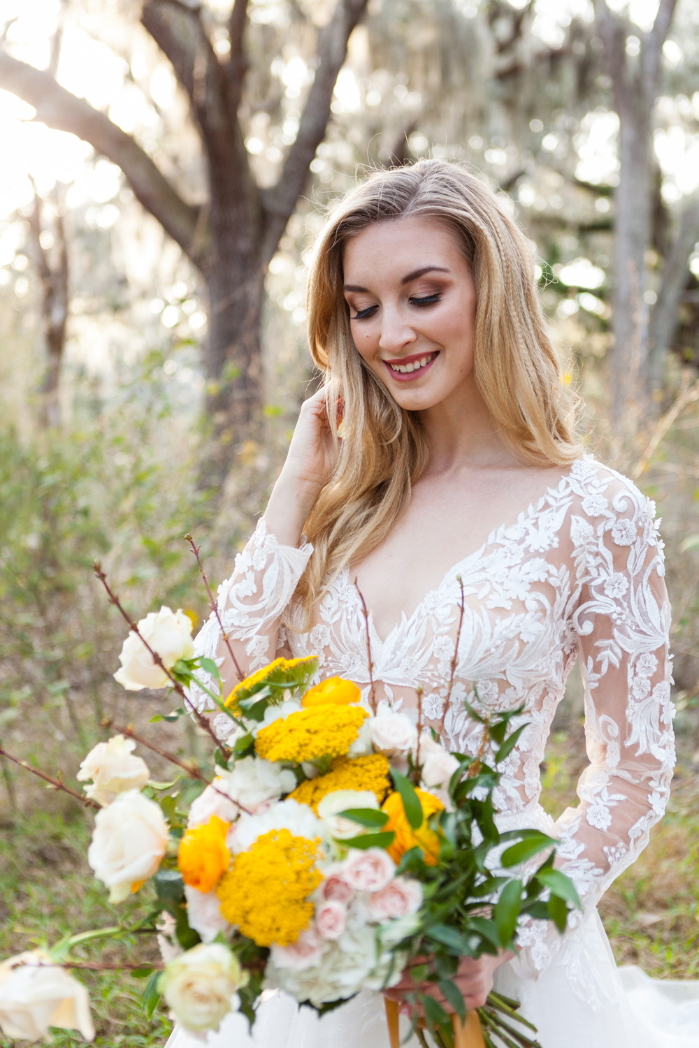 spring awakening styled wedding photos