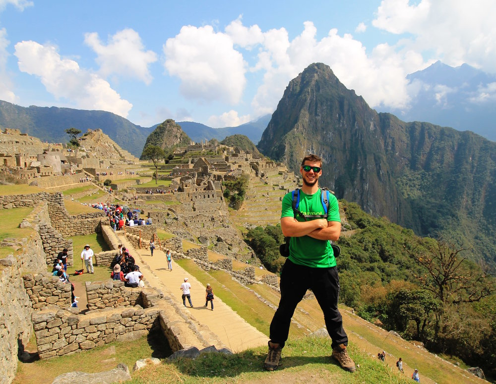 Happy Riccardo after trekking the Inca Trail in 2015 (aka the year that changed it all).