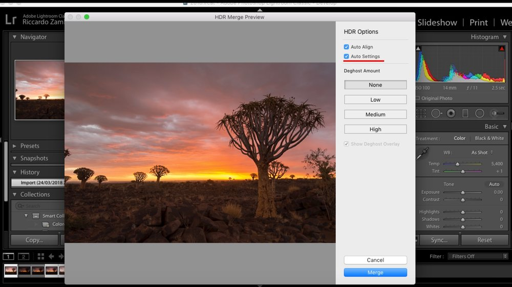 I personally don't like when Lightroom processes my shots automatically as I like to have full control on my workflow. I personally recommend to do not tick the Auto Settings box.