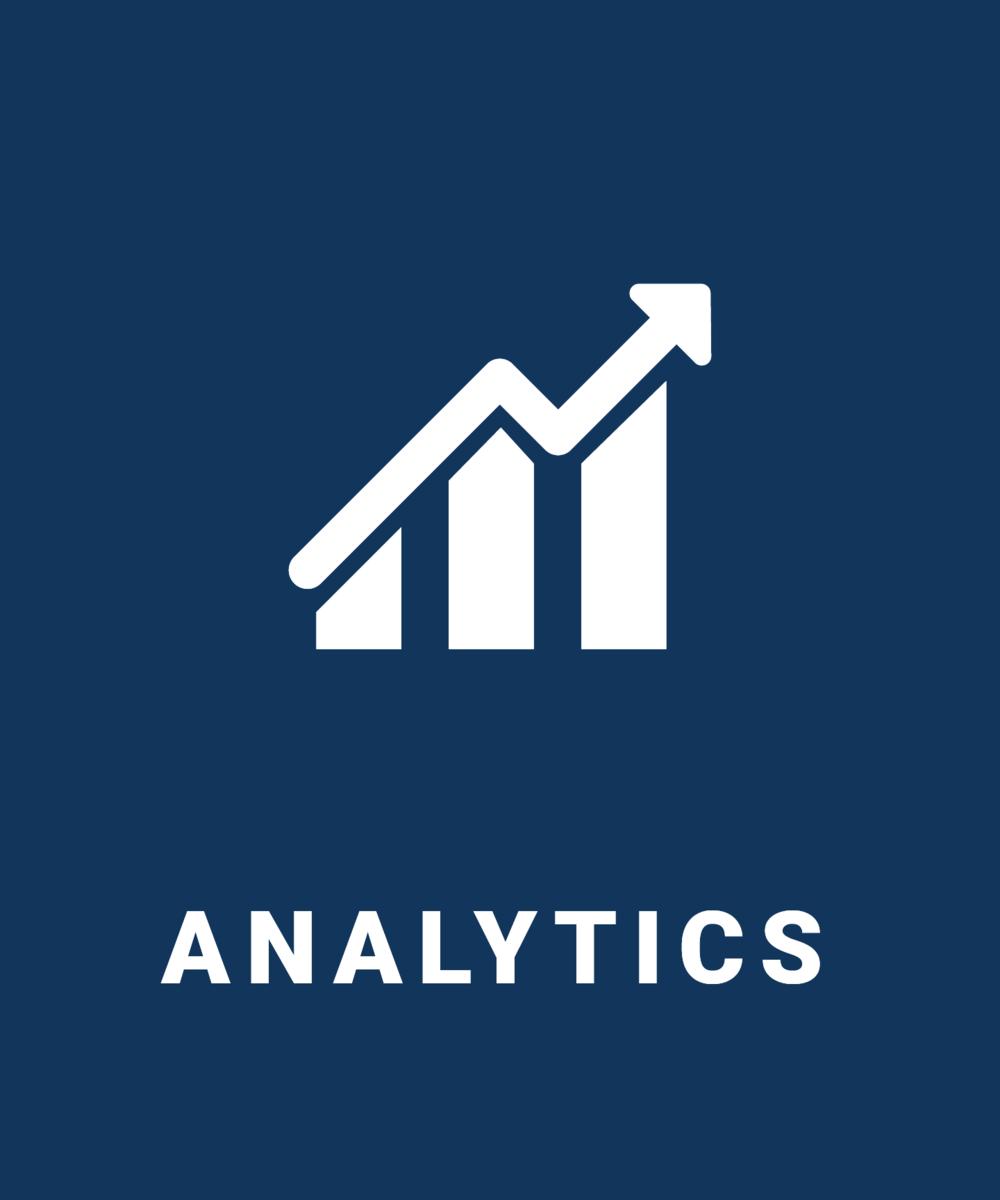 In-Depth Analytics to Help You Grow   In today's data driven world, numbers are everything. It is essential to capture all performance related data in order to stay on top of the competition. With an en-suite of proprietary programs and industry experts at our disposal, we are able to do just that. Not only do we capture the data, we analyze and educate the client as we make the necessary changes to optimize online performance.