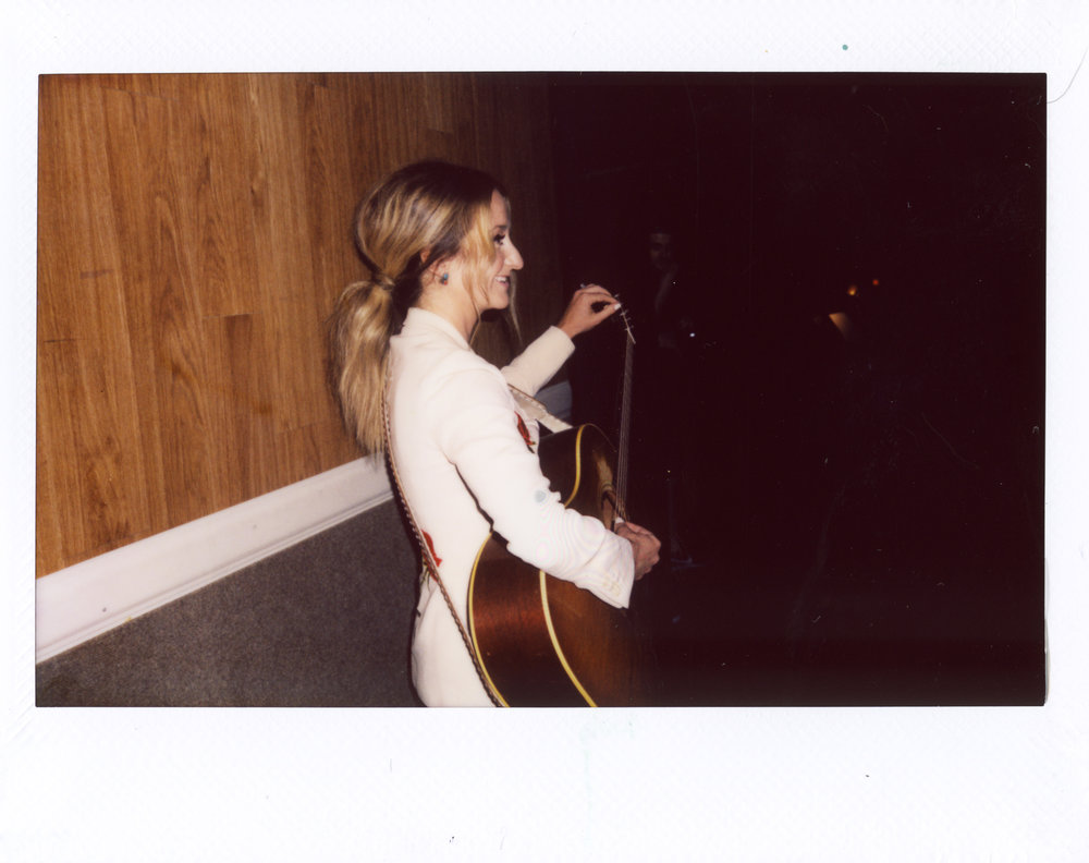 Night 1 - Margo moments before taking the stage