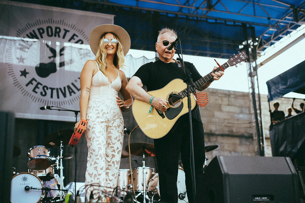 Margo Price and John Prine, photo by  Cal Quinn