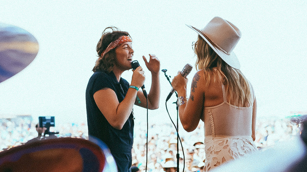 Brandi Carlile and Margo Price, photo by Cal Quinn